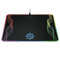 ENHANCE Large Hard Surface LED Gaming Mouse Pad with 7 RGB Light Up Modes & Brightness Control