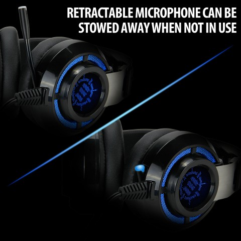 ENHANCE SCORIA PC Gaming Headset w/ 7.1 Virtual Surround , Adjustable Vibration - Black
