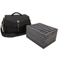 ENHANCE Portable Miniature Figure Storage Case with Accessory Storage - Black