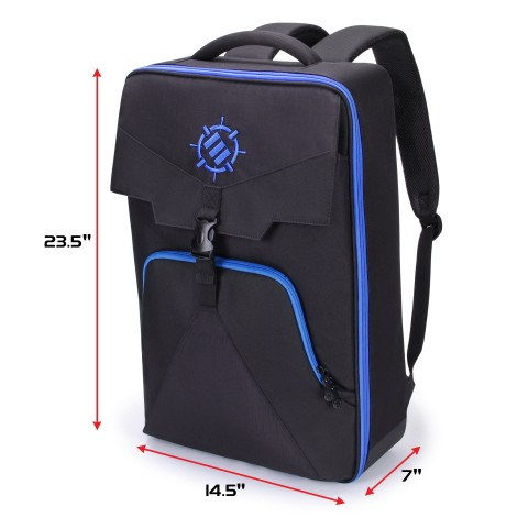ENHANCE Arcade Fight Stick Backpack Travel Bag - Gaming Joystick Controller Fightstick Case with Joystick Shield Customizable Interior