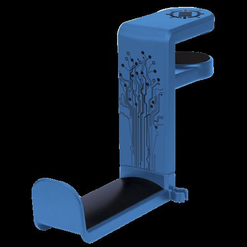 Gaming Headset Holder Hanger Mount by ENHANCE - Adjustable Under Desk Design - Blue
