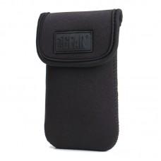 USA GEAR FlexARMOR DIGI Electronics Pouch Case with Protective Neoprene, Velcro Enclosure & Belt Loop - Black