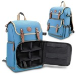 GOgroove Digital SLR Camera Backpack with Tablet and Accessory Compartments - Blue