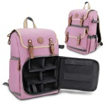 GOgroove Digital SLR Camera Backpack with Tablet and Accessory Compartments - Pink