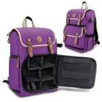 GOgroove Digital SLR Camera Backpack with Tablet and Accessory Compartments - Purple