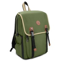 GOgroove Multifunction DSLR Camera Backpack - Army Green