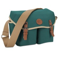 GOgroove DSLR Messenger Style Camera Bag with Seven Accessory Pockets and Adjustable Strap - Green