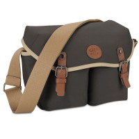 GOgroove DSLR Messenger Style Camera Bag (Black) with Seven Accessory Pockets and Adjustable Strap