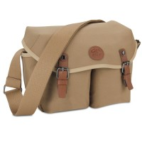 GOgroove DSLR Messenger Style Camera Bag with Seven Accessory Pockets and Adjustable Strap - Tan