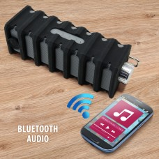 GOgroove BlueSYNC RGD Rugged Bluetooth Speaker with Water-Resistant Design