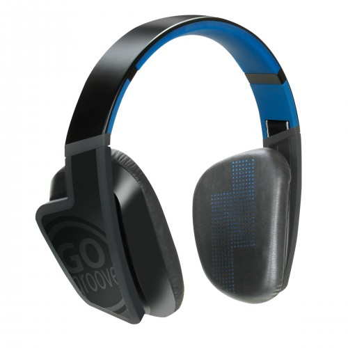 GOgroove BlueVIBE FXT Bluetooth Headphones with IPX4 Water-Resistant Rating , Microphone & Folding Design