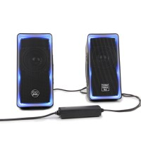 SonaVERSE O2i Glowing LED Computer Speaker System - Black