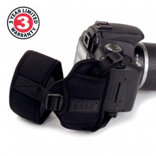 USA GEAR TrueSHOT Digital Film DSLR Camera Hand Grip Strap - Black