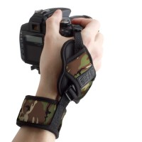 USA Gear TrueSHOT Digital Film DSLR Camera Hand Grip Strap - Camo Green
