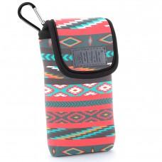 USA GEAR FlexARMOR D50 Portable Pocket Radio Case with Carabiner Carrying Clip, Belt Loop - Southwest