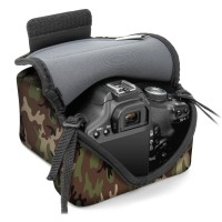USA GEAR DSLR Camera Sleeve Case with DuraNeoprene Technology, Accessory Storage & Strap Openings