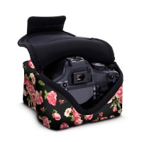USA Gear DSLR Camera Sleeve Case with DuraNeoprene Technology, Accessory Storage and Strap Openings