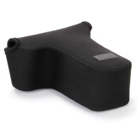 DSLR Camera and Zoom Lens Case Sleeve w/ Neoprene Protection , Accessory Storage & Strap Openings - Black