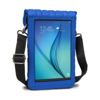 USA Gear FlexARMOR X Tablet Cover Carrying Case w/Touch Capacitive Screen Protector & Shoulder Strap - Blue
