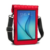 USA Gear FlexARMOR X Tablet Cover Carrying Case w/Touch Capacitive Screen Protector & Shoulder Strap - Red