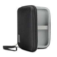 Hard Shell Electronics Case by USA Gear- Holds Cables , Chargers , GPS , Smartphones , Hard Drives - Black