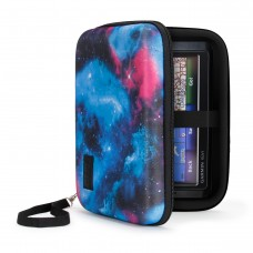 Hard Shell Electronics Case by USA Gear- Holds Cables , Chargers , GPS , Smartphones , Hard Drives - Galaxy