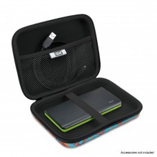 Hard Shell Electronics Case by USA Gear- Holds Cables , Chargers , GPS , Smartphones , Hard Drives - Southwest