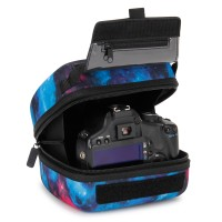 Quick Access DSLR Hard Shell Camera Case w/Molded EVA Protection and Accessory Storage - by USA Gear - Galaxy