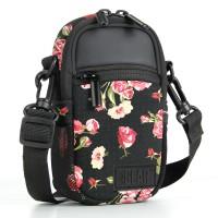 USA Gear Compact Camera Bag with Waterproof Rain Cover, Belt Loop & Shoulder Strap Sling - Floral