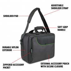 USA GEAR S Series S13 Travel Carrying Case with Reinforced Adjustable Shoulder Strap, and Durable Padded Interior Accessory Pockets - Green