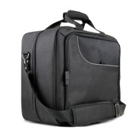 USA GEAR Portable Electronics Bag w/ Custom Storage Compartments , Shoulder Strap & Padded Interior