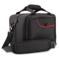 S Series Portable Electronics Bag w/ Custom Storage Compartments, Shoulder Strap & Padded Interior