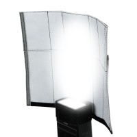 TrueSHOT Lighting Adjustable Translucent Bounce Reflector with Gobo, Snoot, Shovel and Bounce Flash Style