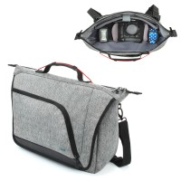 USA GEAR UMB - DSLR / SLR Messenger Camera Bag with Customizable Accessory Dividers