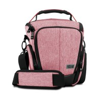 USA GEAR UTL Compact Camera Case with Smooth Streamlined Shape and Side Storage Pockets