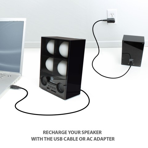 GOgroove SonaVERSE MOVE L3D Rechargeable Color-Changing Speaker