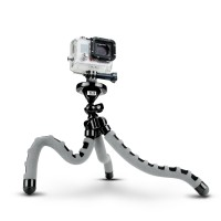 USA GEAR Action FLEX Tripod with 360-Degree Articulating Ball Head, Bendable Wrapping Legs and Quick-Release Plate