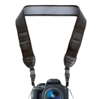 TrueSHOT Camera Neck Strap with Accessory Storage Pockets & Underarm Support - Black