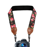 USA GEAR Camera Neck Strap with Accessory Storage Pockets & Underarm Support