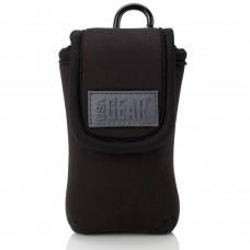 USA GEAR FlexARMOR D40 Neoprene Device Case with Carabiner Clip & Belt Loop - Black