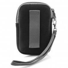 USA GEAR FlexARMOR Glove Neoprene Camera Case with Carrying Wrist Strap , Accessory Pocket & Belt Loop - Black
