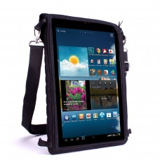 USA GEAR Neoprene Tablet Sleeve with Touch Capacitive Screen Protector & Adjustable Shoulder Strap - Black