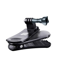 USA GEAR Action Camera Clip Mount with 360 Degree Rotating Head & J-Hook & Screw