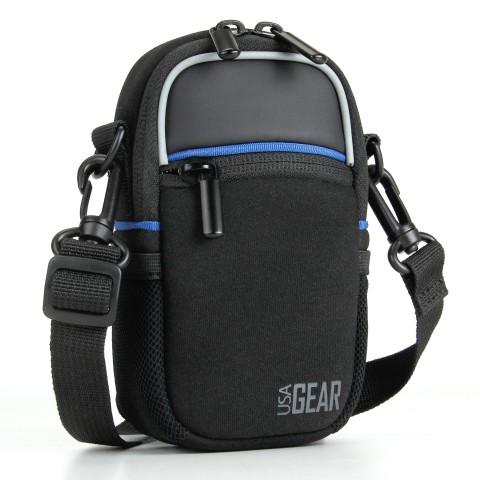 Compact Camera Bag with Waterproof Rain Cover , Belt Loop & Shoulder Strap Sling-Black