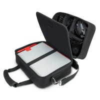 USA GEAR Portable Electronics Bag w/ Custom Storage Compartments, Shoulder Strap & Padded Interior