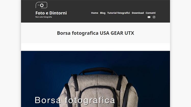 Foto e Dintorni - Borsa fotografica USA GEAR UTX