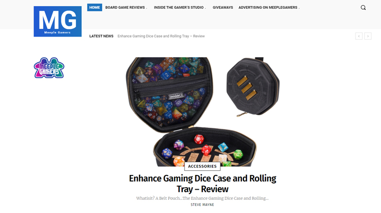 Meeple Gamers Takes a Look at the ENHANCE Dice Tray