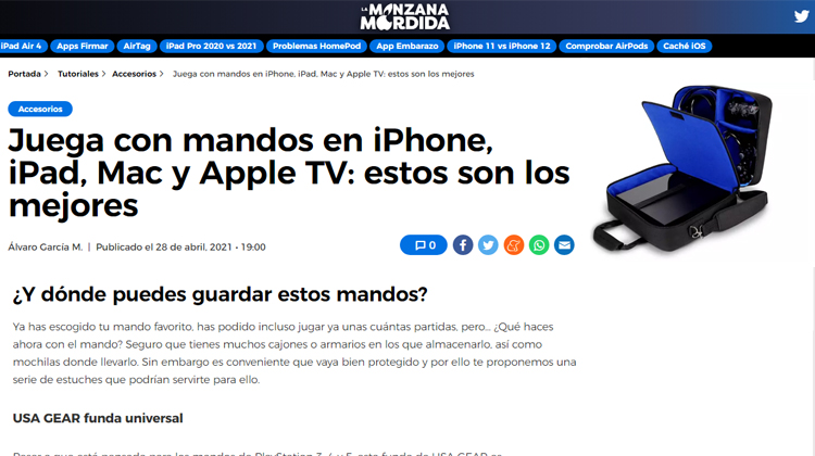 La Manzana Mordida features the USA GEAR S13