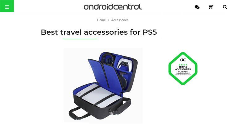 USA GEAR Console Case Picked as Best travel accessory for PS5