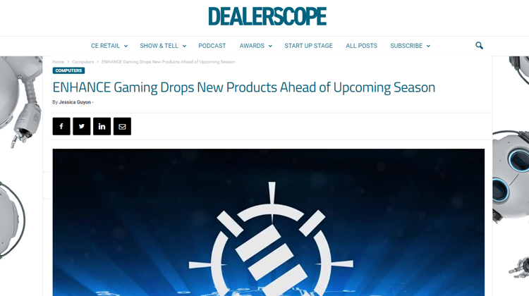 Dealerscope announce new drop of ENHANCE Gaming Products